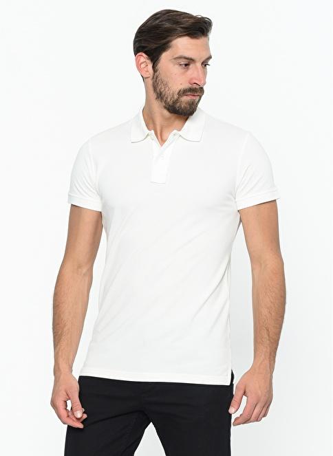 Daffari Polo Yaka Tişört Beyaz